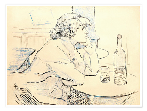 Poster Premium Suzanne Valadon sitting at table