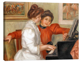 Stampa su tela  Yvonne and Christine Lerolle at the piano - Pierre-Auguste Renoir