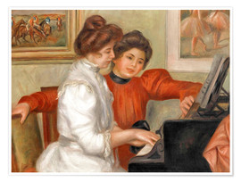 Poster Premium  Yvonne and Christine Lerolle at the piano - Pierre-Auguste Renoir