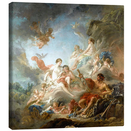 Stampa su tela  The Forge of Vulcan - François Boucher