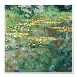 Poster  The Waterlily Pond - Claude Monet