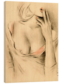 Legno  Aphrodite the modern - erotic woman picture - Marita Zacharias