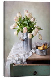 Stampa su tela  Still life with tulips - Nailia Schwarz
