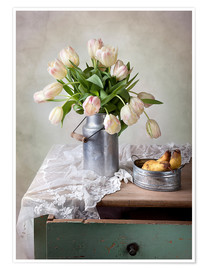 Poster Premium  Still life with tulips - Nailia Schwarz