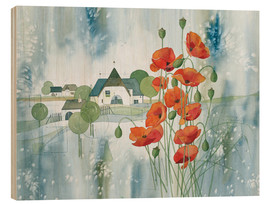 Stampa su legno  Poppy flower - Franz Heigl