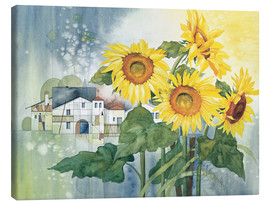 Tela  Rays of sun flowers - Franz Heigl