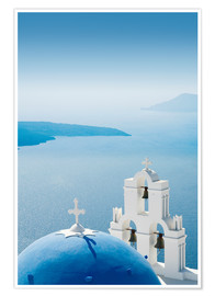 Poster Premium  Church Santorini Greece - Mayday74