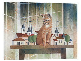 Stampa su schiuma dura  View of the cat - Franz Heigl