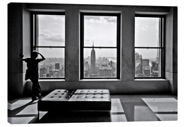 Stampa su tela  New York, Top of the Rock - Thomas Splietker