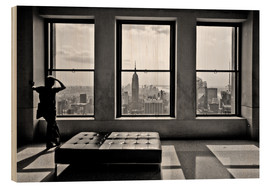 Stampa su legno  New York, Top of the Rock - Thomas Splietker