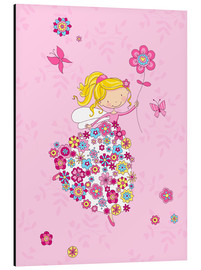 Stampa su alluminio  Flower Princess - Fluffy Feelings