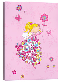 Stampa su tela  Flower Princess - Fluffy Feelings