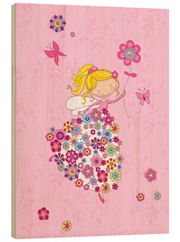 Stampa su legno  Flower Princess - Fluffy Feelings