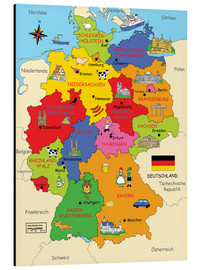 Alluminio Dibond  German states for children - Fluffy Feelings
