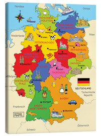 Stampa su tela  German states for children - Fluffy Feelings