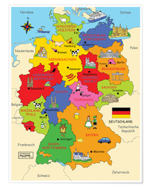Poster  German states for children - Fluffy Feelings