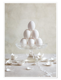 Poster Premium  Still Life with Eggs - Nailia Schwarz