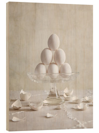 Stampa su legno  Still Life with Eggs - Nailia Schwarz