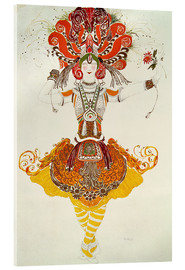 Stampa su vetro acrilico  Ballet Costume for 'The Firebird' - Leon Nikolajewitsch Bakst