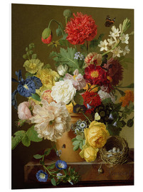 Stampa su schiuma dura  Flower Still Life on a marble ledge - Jan Frans van Dael