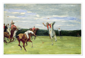 Poster Premium  Polo players in Jenischpark - Max Liebermann