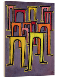 Stampa su legno  Revolution of the Viaduct - Paul Klee
