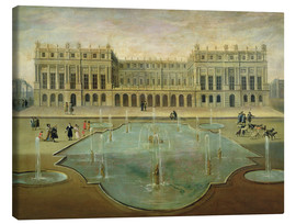 Stampa su tela  Chateau de Versailles from the Garden Side - French School