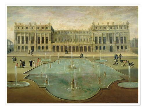 Poster Premium Chateau de Versailles from the Garden Side