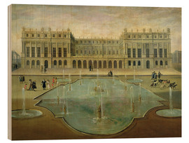 Stampa su legno  Chateau de Versailles from the Garden Side - French School