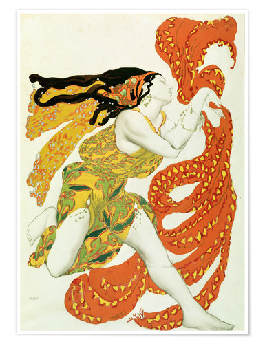 Poster Premium Costume design for a bacchante in 'Narcisse' by Tcherepnin