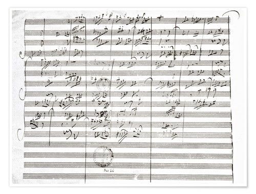 Poster Premium Score for the 3rd Movement of the 5th Symphony