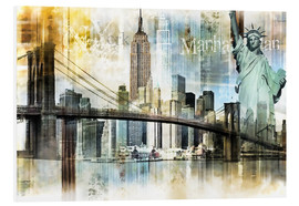 Forex  Skyline New York Fraktal I - Städtecollagen