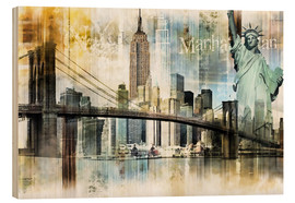 Legno  Skyline New York Fraktal I - Städtecollagen