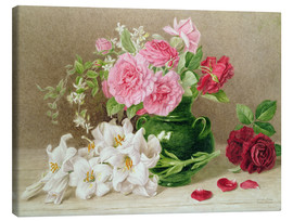 Tela  Roses and Lilies - Mary Elizabeth Duffield