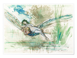 Poster Premium  Dragonfly - Gustave Moreau