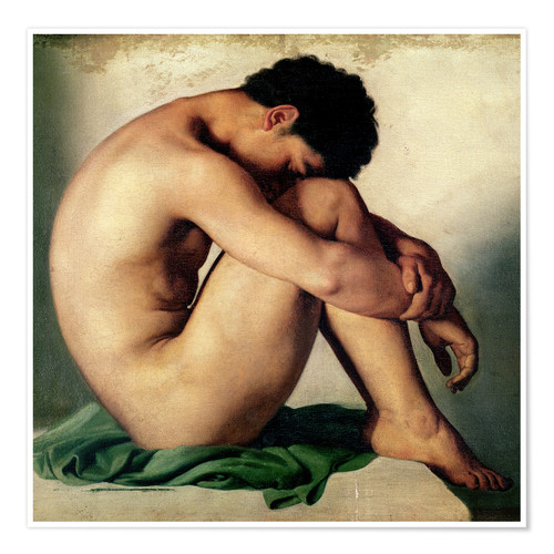 Poster Premium Study of a Nude Young Man