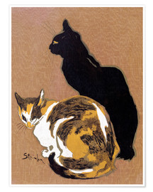Poster Premium  Two Cats - Théophile-Alexandre Steinlen