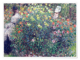 Poster Premium Women in the Flowers