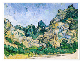 Poster Premium  The Alpilles - Vincent van Gogh