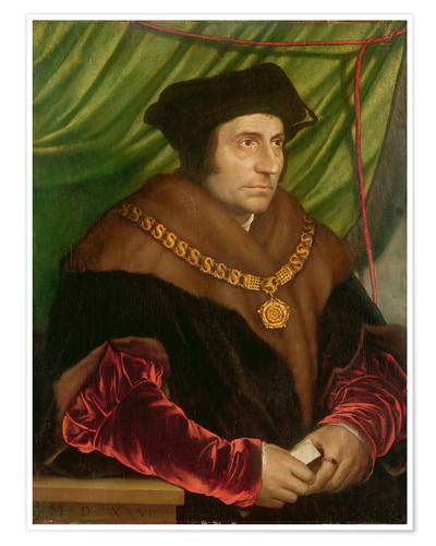 Poster Premium Portrait of Sir Thomas More