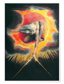 Poster Premium  The Ancient of Days - William Blake