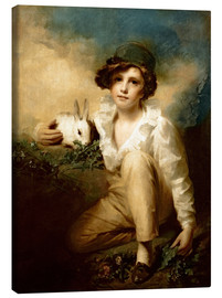 Stampa su tela  Boy and Rabbit - Henry Raeburn