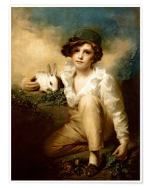 Poster Premium  Boy and Rabbit - Henry Raeburn