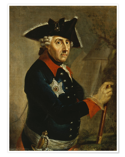 Poster Premium Frederick the Great of Prussia