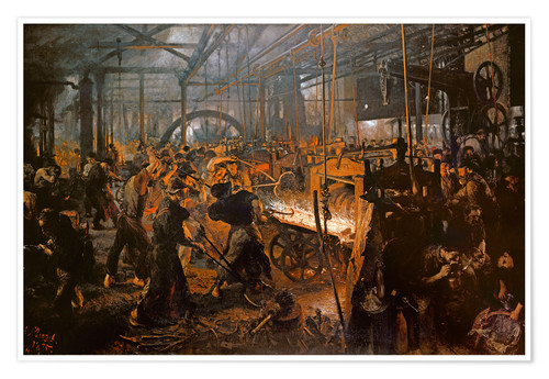 Poster Premium The Iron-Rolling Mill
