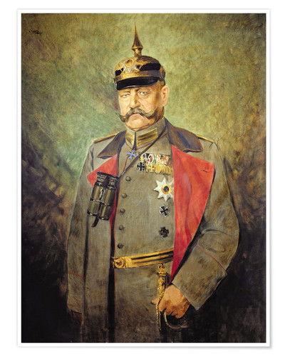 Poster Premium General Paul von Hindenburg