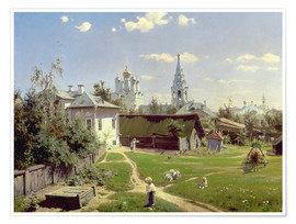 Vasilij Dmitrievich Polenov - A Small Yard in Moscow