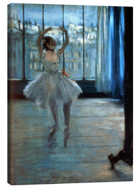 Stampa su tela  Dancer in Front of a Window - Edgar Degas