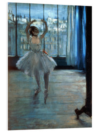 Stampa su schiuma dura  Dancer in Front of a Window - Edgar Degas
