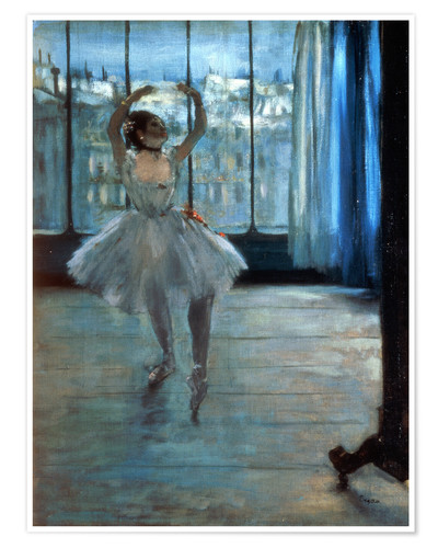 Poster Premium Dancer in Front of a Window